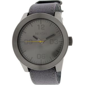 Nixon Men's Corporal A2431895 Grey Leather Quartz Watch