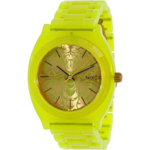 Nixon Men's Time Teller A3271896 Yellow Plastic Quartz Watch