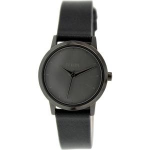 Nixon Women's Kenzi A3981531 Black Leather Quartz Watch