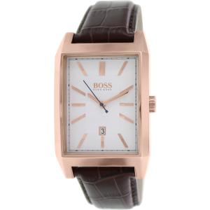 Hugo Boss Men's Architecture 1513075 Brown Leather Analog Quartz Watch