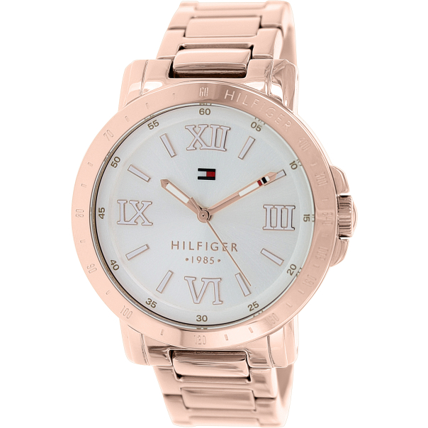 tommy hilfiger women 39 s 1781472 rose gold stainless steel analog quartz watch. Black Bedroom Furniture Sets. Home Design Ideas