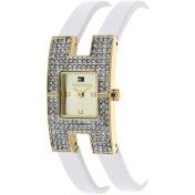 Tommy Hilfiger Women's 1781491 White Leather Analog Quartz Watch