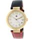 Tommy Hilfiger Women's 1781492 Red Leather Analog Quartz Watch - Main Image Swatch