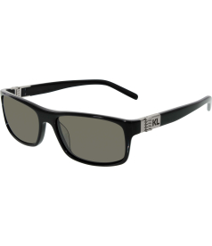 Karl Lagerfeld Men's  KL783S-001-56 Black Rectangle Sunglasses