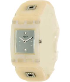 Swatch Women's Originals SUBW110B Beige Plastic Swiss Quartz Watch