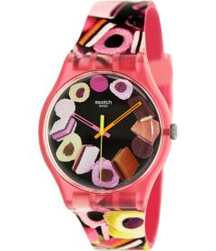 Swatch Women's Originals SUOP102 Multi Rubber Swiss Quartz Watch