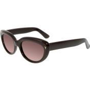 Yves Saint Laurent Women's  YSL6319S-86LEJ-53 Brown Butterfly Sunglasses