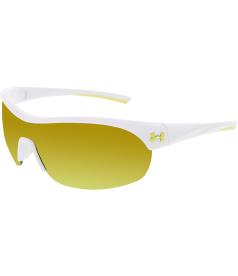 Under Armour Women's Mirrored Marbella 8600070-107141 White Wrap Sunglasses