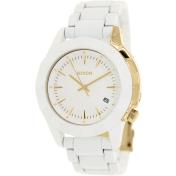 Nixon Men's Monarch A2881035 White Stainless-Steel Quartz Watch
