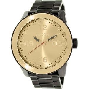 Nixon Men's Corporal A346010 Black Stainless-Steel Quartz Watch