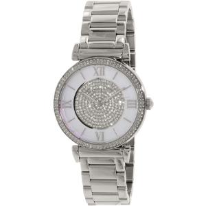 Michael Kors Women's Catlin MK3355 Silver Stainless-Steel Quartz Watch