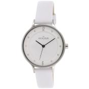 Skagen Women's Anita SKW2145 White Leather Quartz Watch