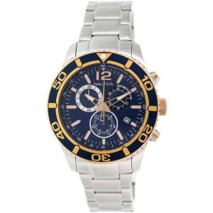 Nautica Men's Nts 09 NAD18500G Silver Stainless-Steel Analog Quartz Watch