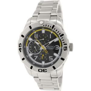 Nautica Men's Nst 08 N15099G Silver Stainless-Steel Quartz Watch