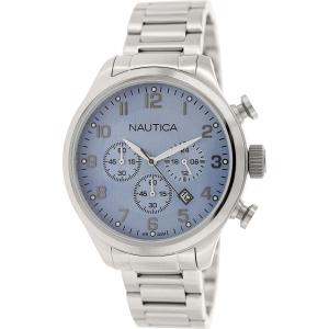 Nautica Men's Bfd 101 N17647G Silver Stainless-Steel Quartz Watch