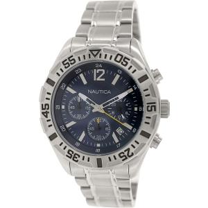 Nautica Men's Nst 402 N19627G Silver Stainless-Steel Quartz Watch