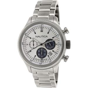 Nautica Men's Nct 14 N20115G Silver Stainless-Steel Quartz Watch