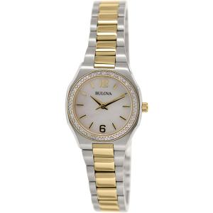 Bulova Women's Diamond 98R204 Silver Stainless-Steel Quartz Watch