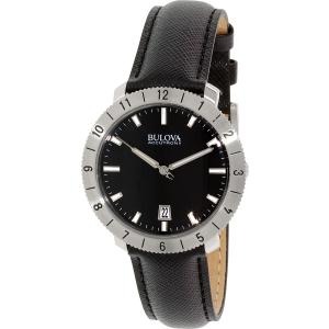 Bulova Men's Accutron II 96B205 Black Leather Quartz Watch