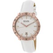 Bulova Men's Accutron Ii 97B128 White Leather Quartz Watch