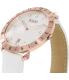 Bulova Men's Accutron II 97B128 White Leather Quartz Watch - Side Image Swatch