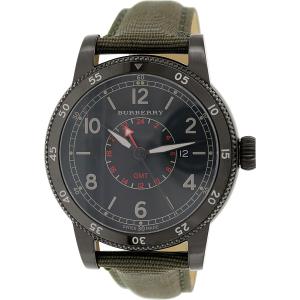 Burberry Men's Utilitarian BU7855 Green Leather Swiss Quartz Watch