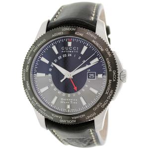 Gucci Men's G-Timeless YA126212 Black Leather Swiss Quartz Watch