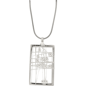 Exotic Identity Women's Trinity Pendant Necklace