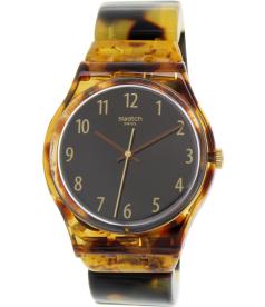 Swatch Women's Originals GC113B Brown Plastic Swiss Quartz Watch