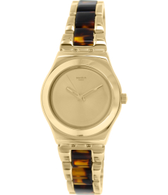 Swatch Women's Irony YLG127G Gold Stainless-Steel Swiss Quartz Watch