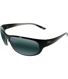 Maui Jim Men's Twin Falls 417-02J Black Rectangle Sunglasses