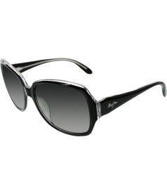 Maui Jim Women's Kalena GS299-02K Black Square Sunglasses