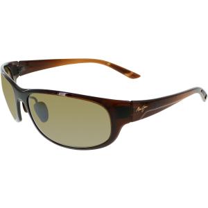 Maui Jim Men's Twin Falls H417-26B Brown Rectangle Sunglasses