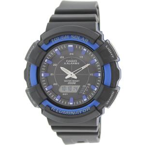 Casio Men's Solar ADS800WH-2A2V Black Plastic Quartz Watch