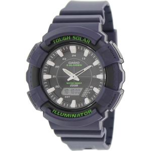 Casio Men's Solar ADS800WH-2AV Blue Resin Quartz Watch