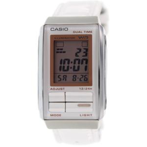 Casio Women's Futurist LA201WBL-7A White Leather Quartz Watch