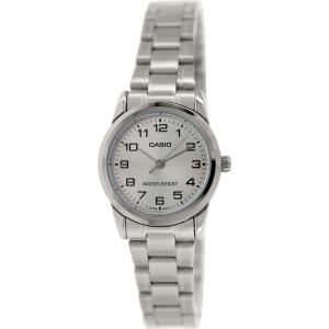 Casio Women's LTPV001D-7B Silver Metal Quartz Watch