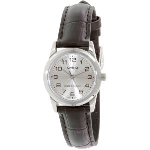 Casio Women's LTPV001L-7B Black Leather Quartz Watch