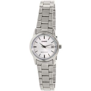 Casio Women's LTPV002D-7A Silver Stainless-Steel Quartz Watch