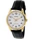 Casio Men's MTPV001GL-7B Black Leather Quartz Watch - Main Image Swatch