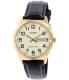 Casio Men's MTPV003GL-9B Black Leather Quartz Watch - Main Image Swatch