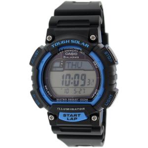 Casio Men's Solar STLS100H-2AV Black Rubber Quartz Watch