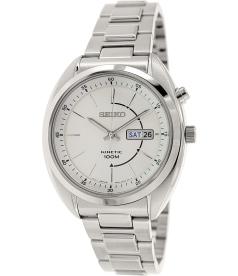 Seiko Men's SMY117 Silver Stainless-Steel Quartz Watch