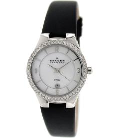 Skagen Women's 630SSLB1 Silver Leather Quartz Watch