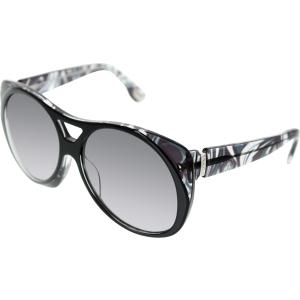 Emilio Pucci Women's  EP688S-004-58/15 Black Round Sunglasses