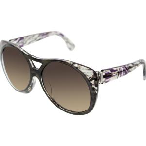 Emilio Pucci Women's  EP688S-203-58/15 Black Aviator Sunglasses