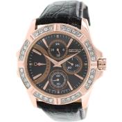 Seiko Women's Lord SRLZ90 Black Leather Quartz Watch