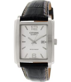 Citizen Men's BH1640-08A Black Leather Quartz Watch