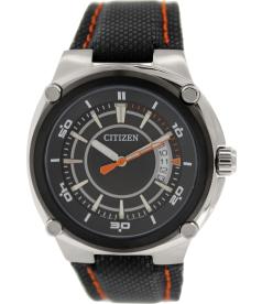 Citizen Men's BK2535-05E Black Leather Quartz Watch