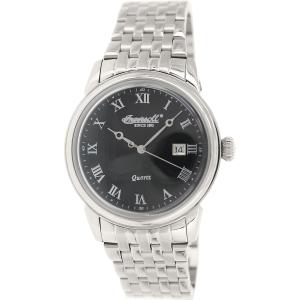 Ingersoll Men's Grafton INQ030BKSL Silver Stainless-Steel Analog Quartz Watch
